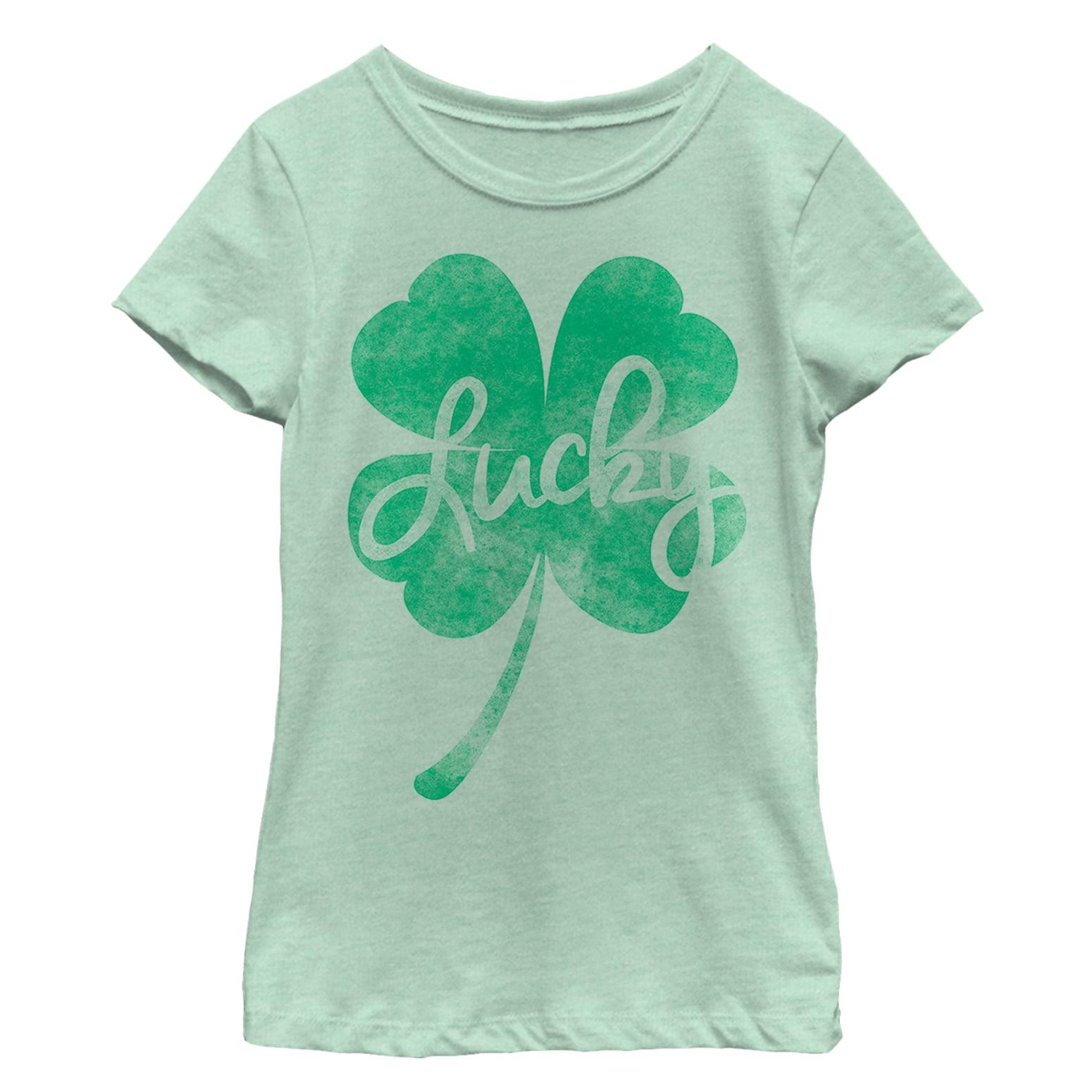 Tstars Patricks Day Lucky Cute Rainbow Shamrock Infant Kids T-Shirt Cute St