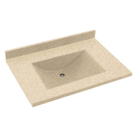 Swanstone 37W x 22D in. Contour Solid Surface Vanity Top Deal