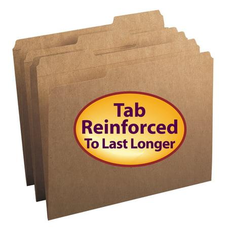Smead Folder, Reinforced 1/3-Cut Tab, Letter Size, Kraft, 100 Per Box (10734)
