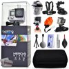 GoPro Hero 4 HERO4 Black CHDHX-401 with Headstrap + Chest Harness + Suction Cup + Handgrip + Floaty Strap + Wrist Hand Glove + Premium Case + Mini Tripod + Dust Blower + Cleaning Kit