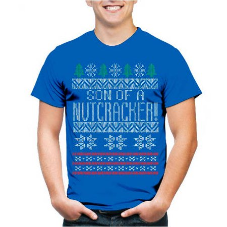Son of a Nutcracker Big Men's Christmas Graphic Tee, 2XL