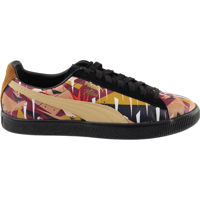 30384feacdd PUMA - Puma Men s Clyde Moon Jungle Naturel Black   Natural Vachetta  Ankle-High Leather Fashion Sneaker - 10M - Walmart.com