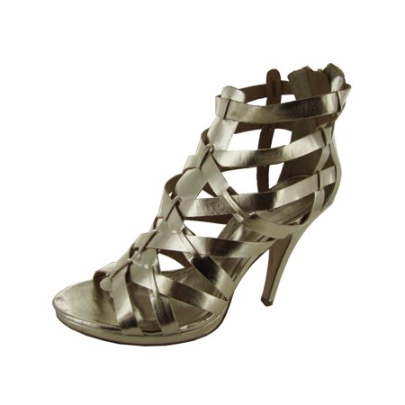 Express Womens 'P-Asandi' Sandal Shoe, Gold, US 9](Express Women)