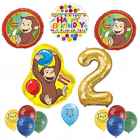Curious George Birthday Balloon Kit - Curious George Party Decorations