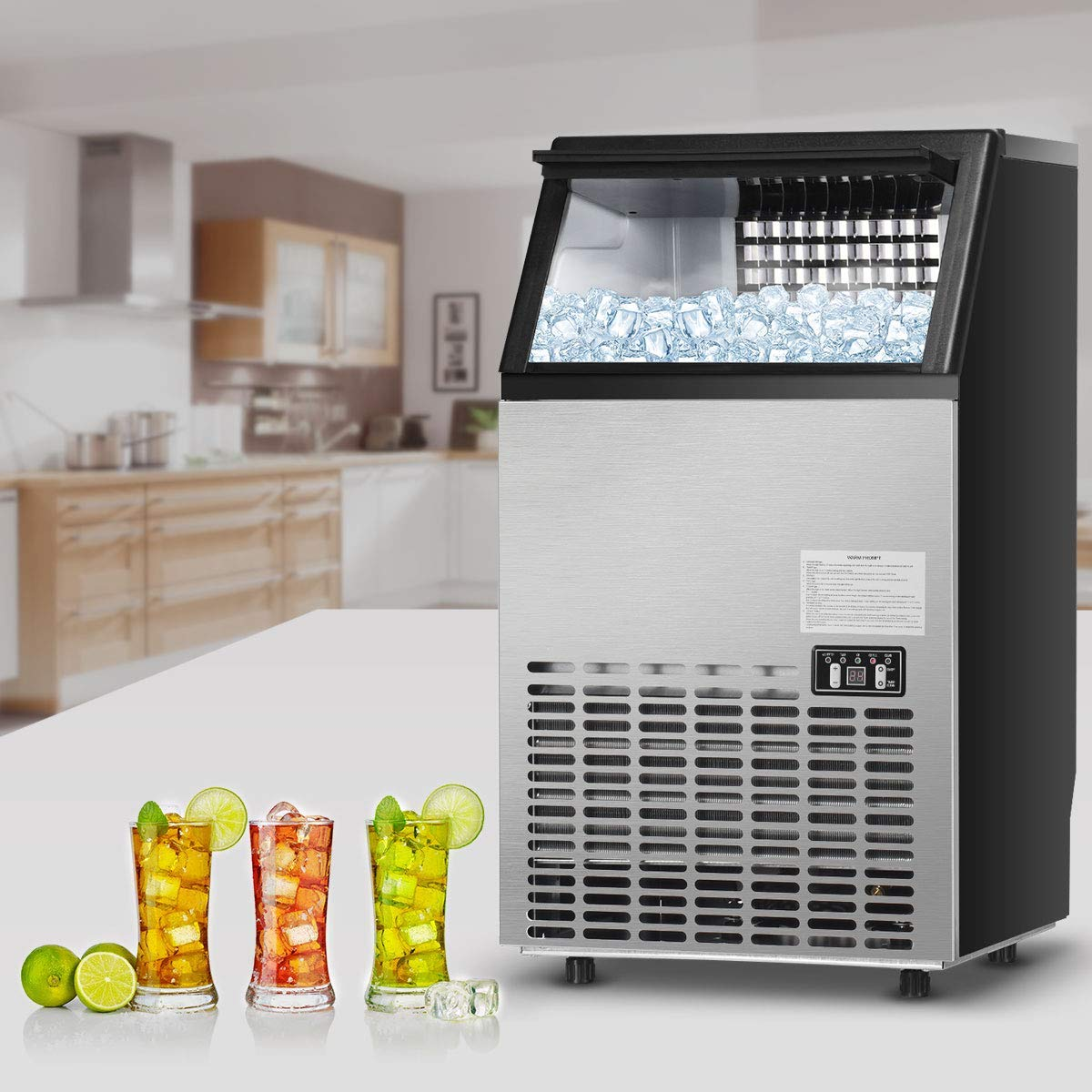 Commercial Ice Machine On Clearance Segmart Freestanding Built In Stainless Steel Ice Maker 100lbs 24h 33lbs Storage Under Counter Automatic Ice Machine For Restaurant Bar Cafe S11486 Walmart Com Walmart Com