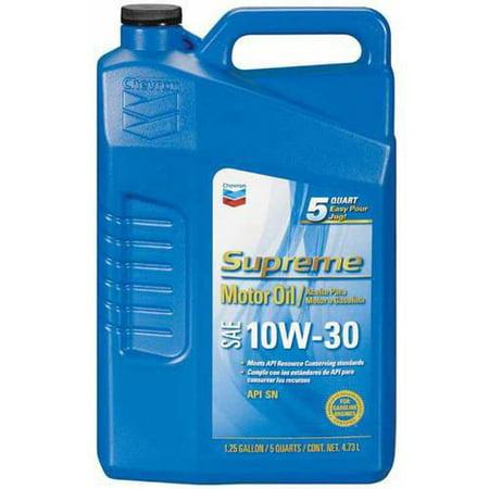 Chevron Supreme Motor Oil  10W30