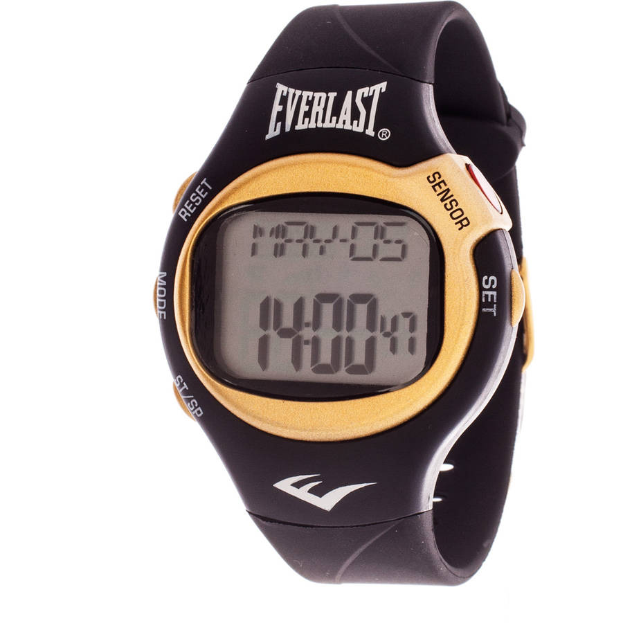 Everlast HR5 Finger-Touch Heart Rate Monitor Watch, Red Plastic Strap