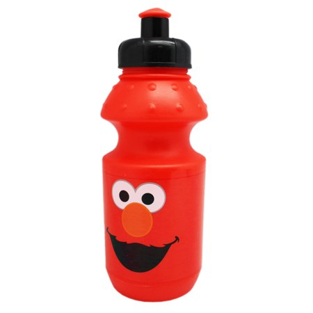 Sesame Street's Elmo Face Red Colored Kids Sports Water (Red Water Bottle)