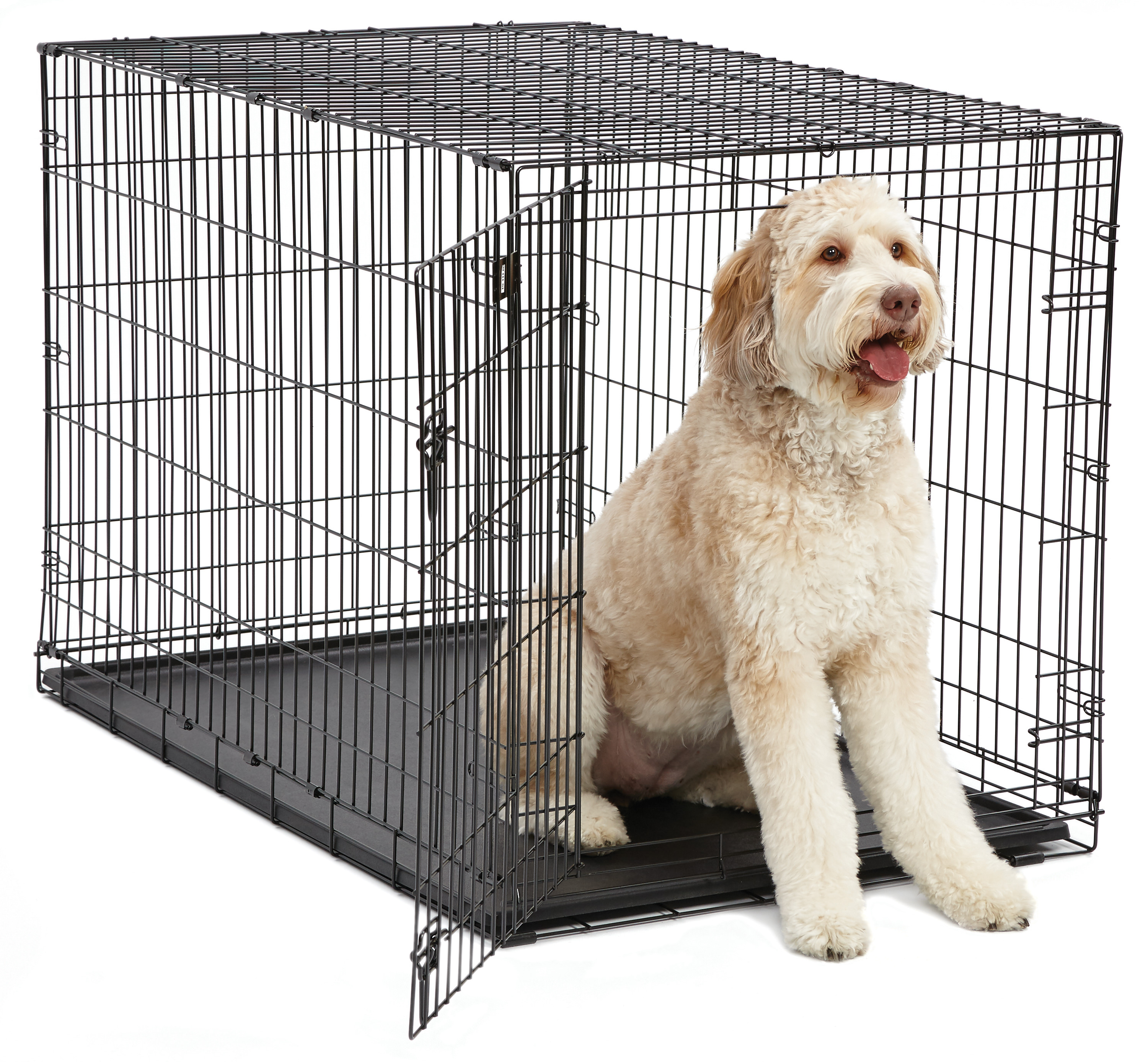"MidWest 48 "" Single Door iCrate Metal Dog Crate, Black by Midwest Homes For Pets"