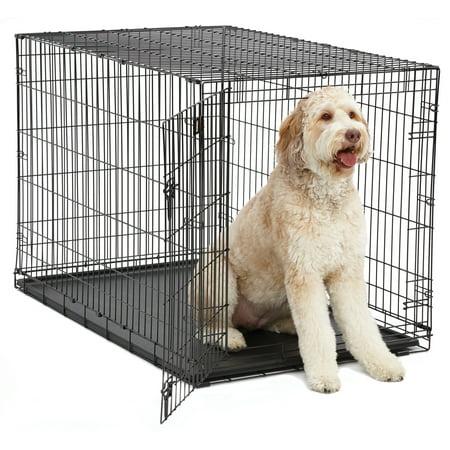 (Single Door iCrate Metal Dog Crate, 48-Inch, Black)