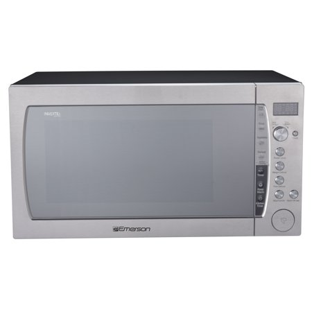 Emerson 2.2 Cu Ft 1200 W Counter top Microwave Oven with Inverter Technology & Sensor Cooking, Silver