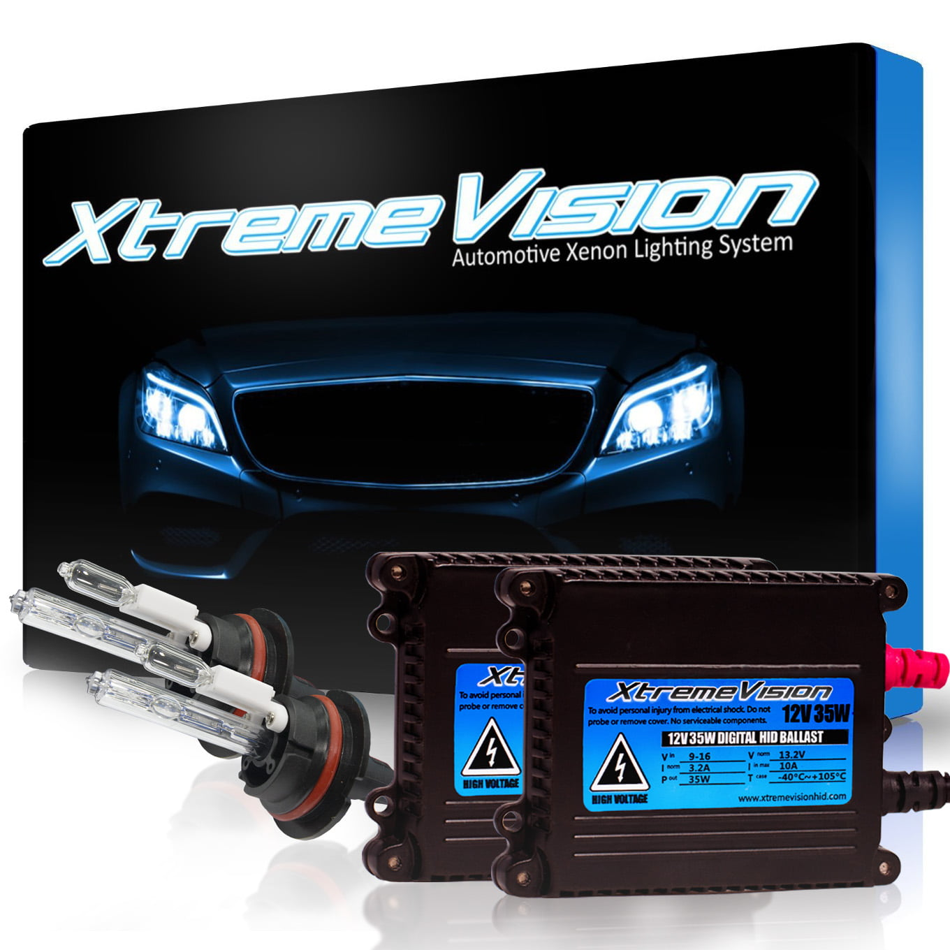 XtremeVision 35W HID Xenon Conversion Kit with Premium Slim Ballast - 9007 5000K - Bright White ...