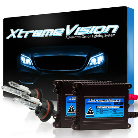 XtremeVision 35W HID Xenon Conversion Kit with Premium Slim Ballast - 9007 30000K - Deep Blue - 2 Year