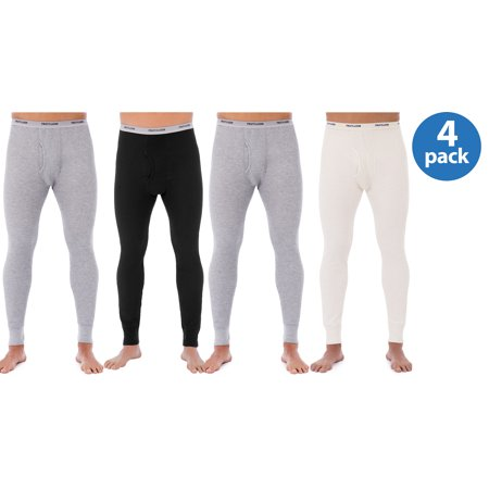 Buy 2 Fruit of the Loom Mens Classic Thermal Underwear Bottom, Value 2 Pack, and Save!