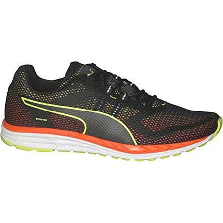 Puma Men's Speed 500 Ignite Running Shoes Puma Black/Safety Yellow/Red Blast  10.5
