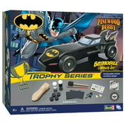 revell pinewood derby batman batmobile trophy series racer, officially licensed boy scouts of america (bsa) pre-cut shaped wood block kit with official wheels and axles, decals, and weight
