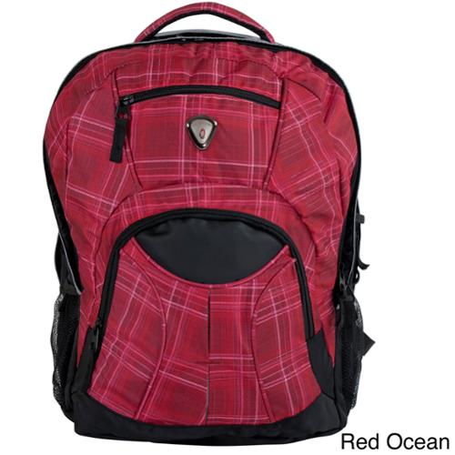 CalPak Mentor 17-inch Deluxe Backpack with 15-inch Laptop Compartment Red Ocean