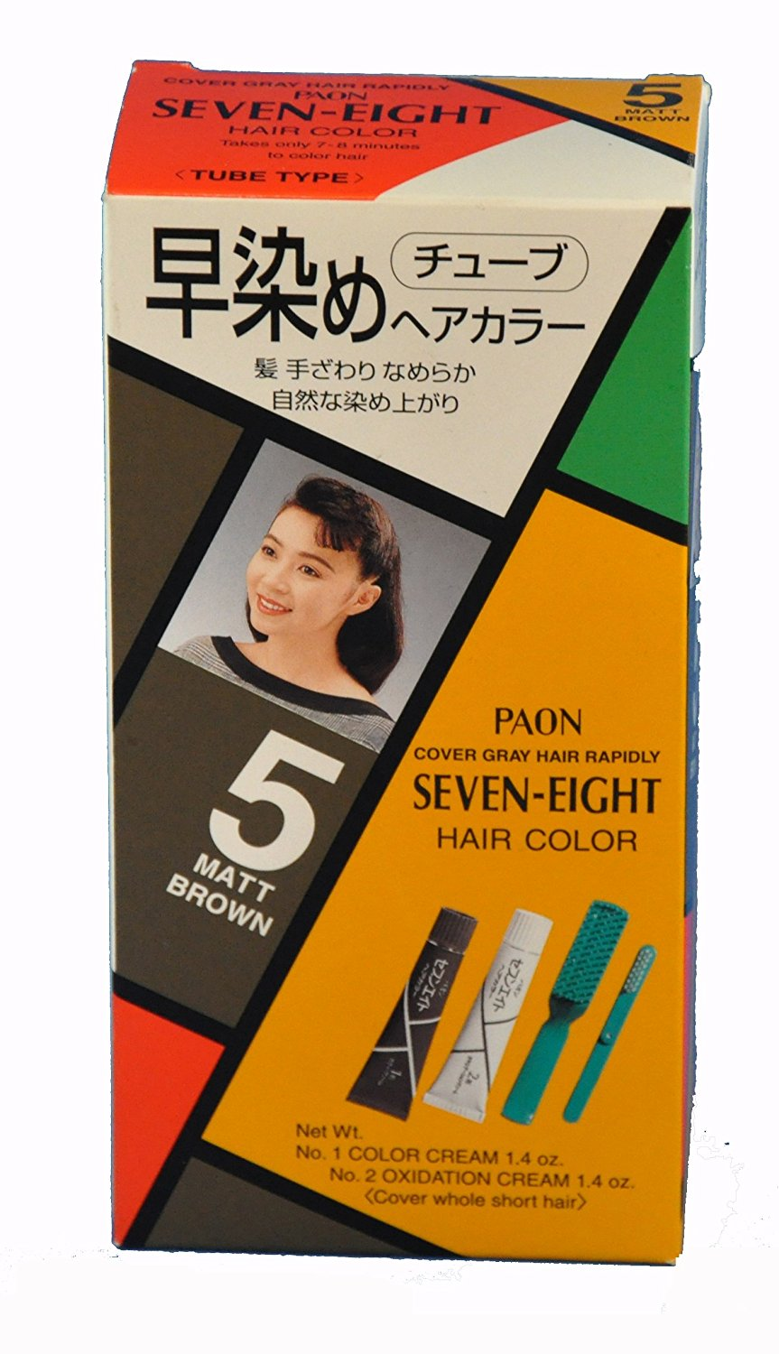 Paon Seven Eight Hair Color 5 Matt Brown Tube 1 Color Cream 14