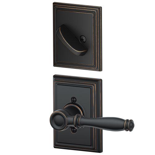 Schlage F59-BIR-ADD Birmingham Single Cylinder Interior Pack with Decorative Add