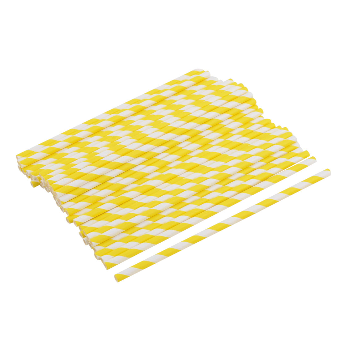 Kitchen Paper Diagonal Stripe Pattern Tea Drinking Straws 50ct