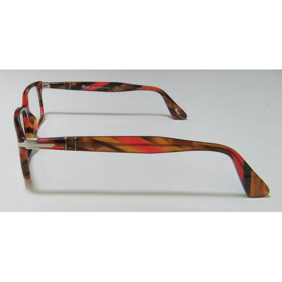 d82bd9453f8bf New Persol 2965-V-M Mens Designer Full-Rim Red   Brown Pattern Frame Demo  Lenses 55-18-145 Spring Hinges Eyeglasses Eyewear - Walmart.com