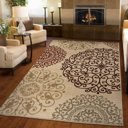 Orian Rugs Medallions Scrolled Eclipse Ivory Area Rug