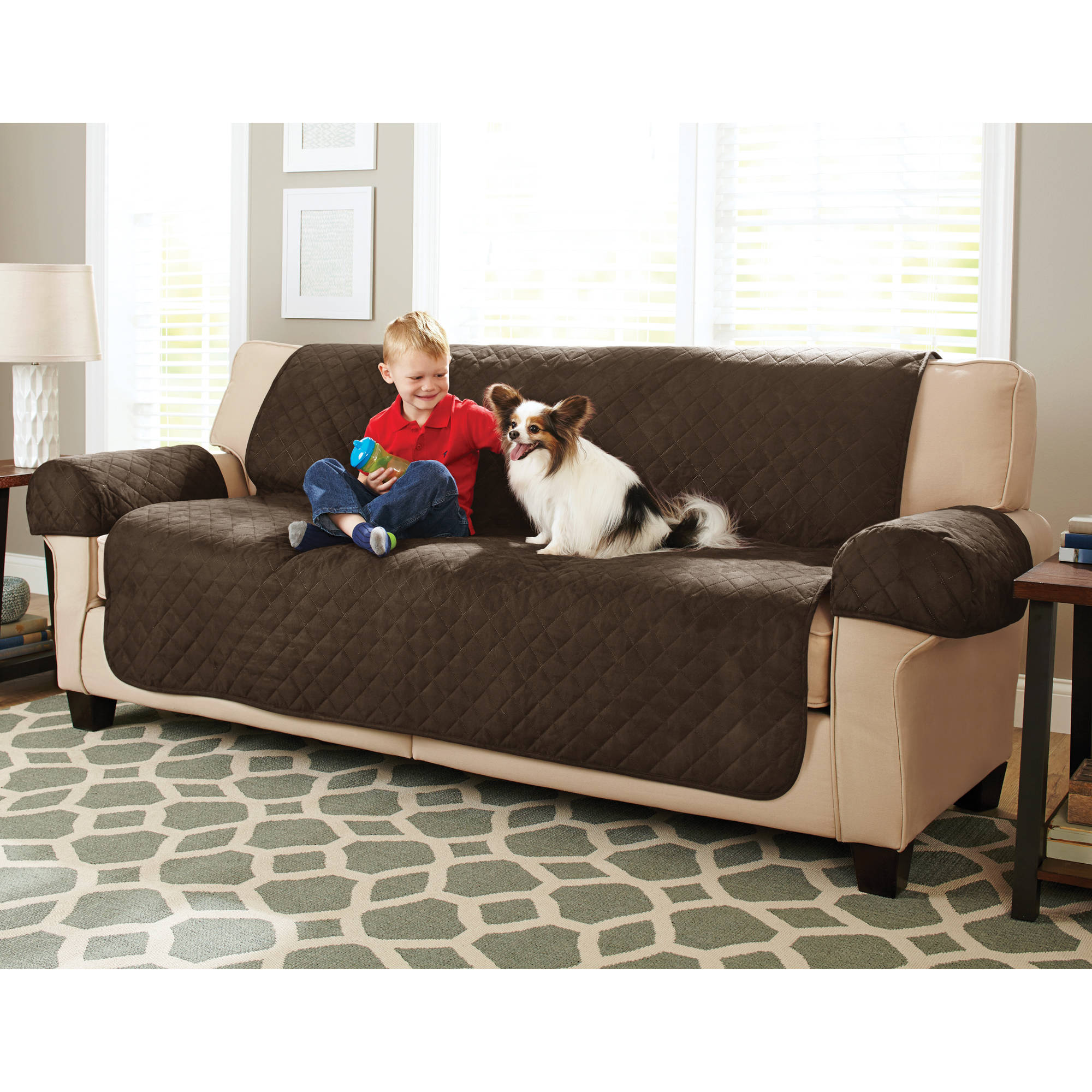 Better Homes And Gardens Waterproof Non Slip Faux Suede Pet/Furniture Sofa  Cover   Walmart.com