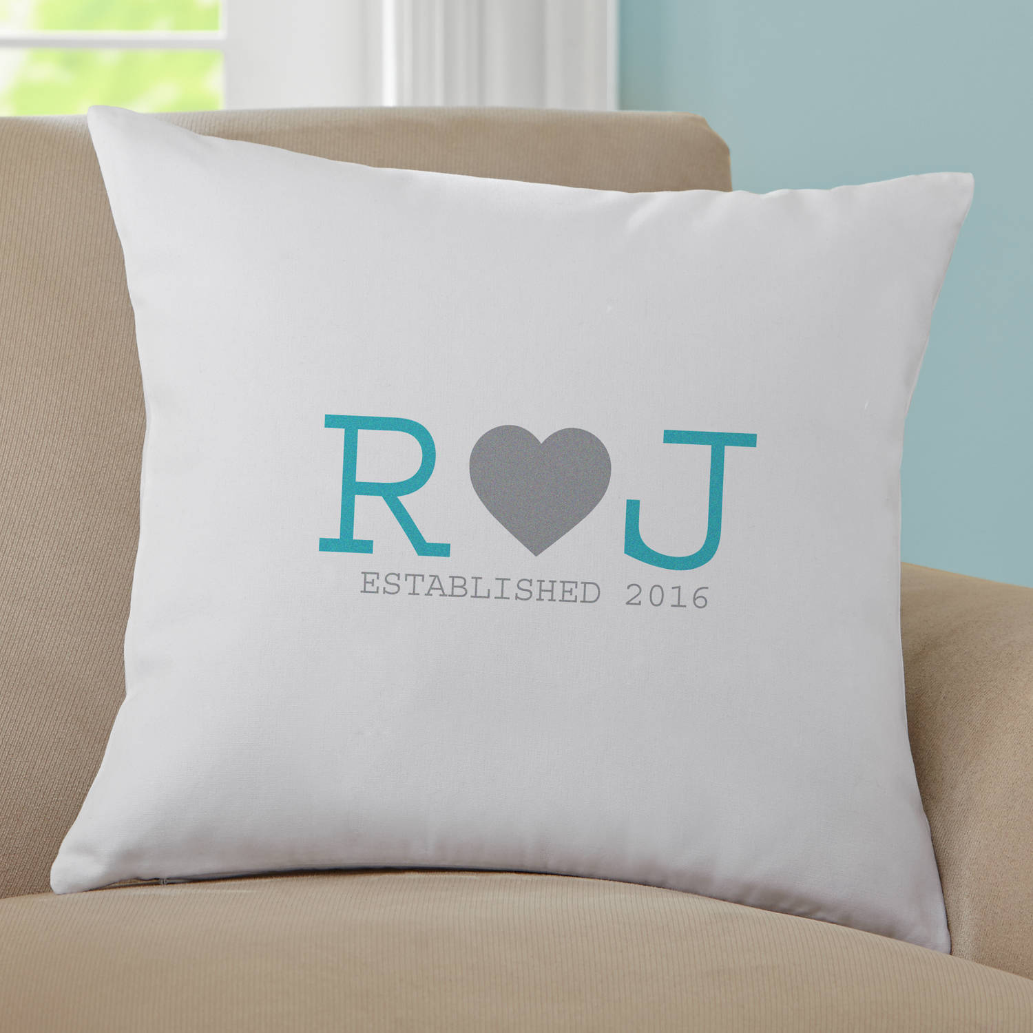 Personalized When Love Began Pillow