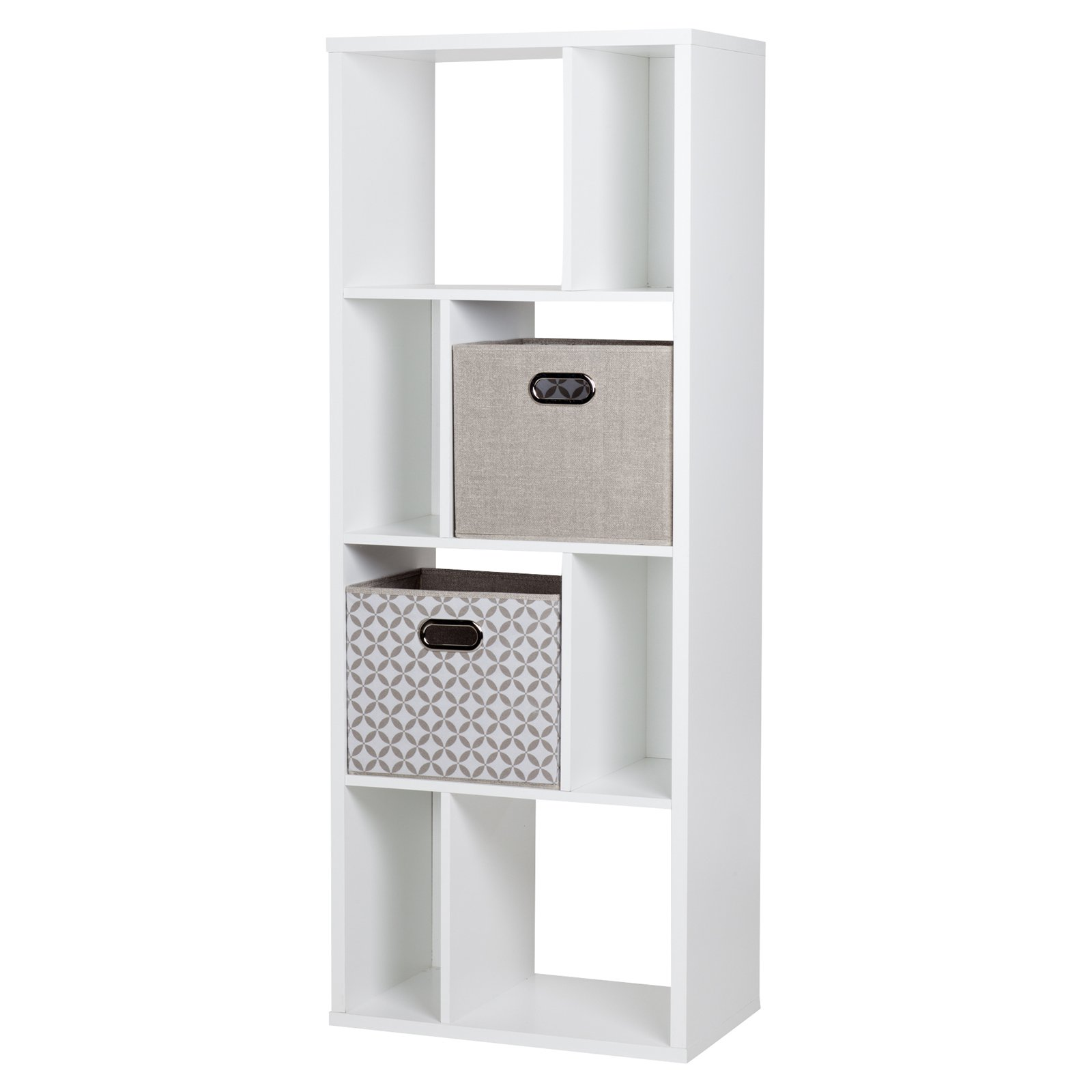 Reveal 8 Cube Shelving Unit with 2 Fabric Storage Baskets by South Shore by South Shore