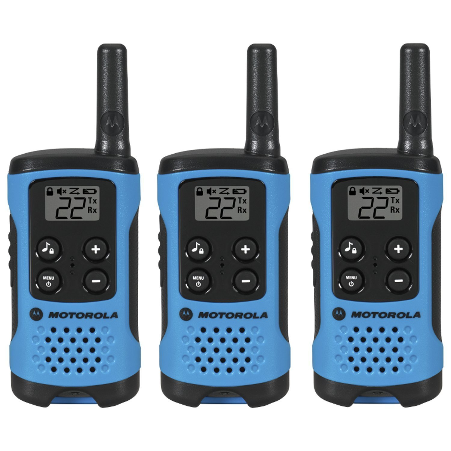 Walky Talky, Motorola Talkabout T100tp 16mi Radio Walkie Talkie,  3pk,  Blue