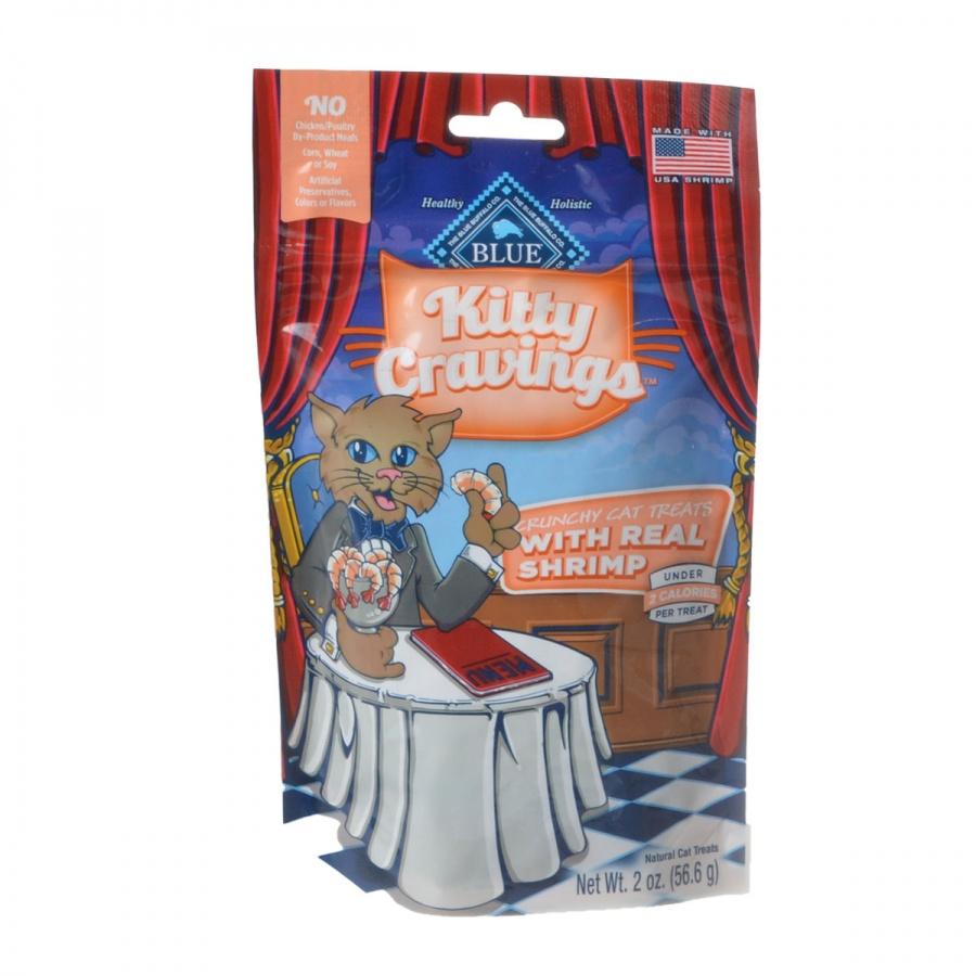 Blue Buffalo Kitty Cravings Crunchy Cat Treats Real Shrimp by