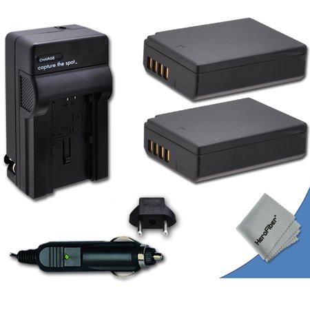 2 High Capacity Replacement Canon LP-E12 Batteries with AC/DC Quick Charger Kit for Canon EOS M,EOS Rebel SL1, EOS 100D DSLR