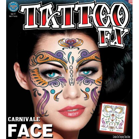 Tinsley Halloween Costume Makeup Carnivale Face Temporary - Carnivale Chicago Halloween