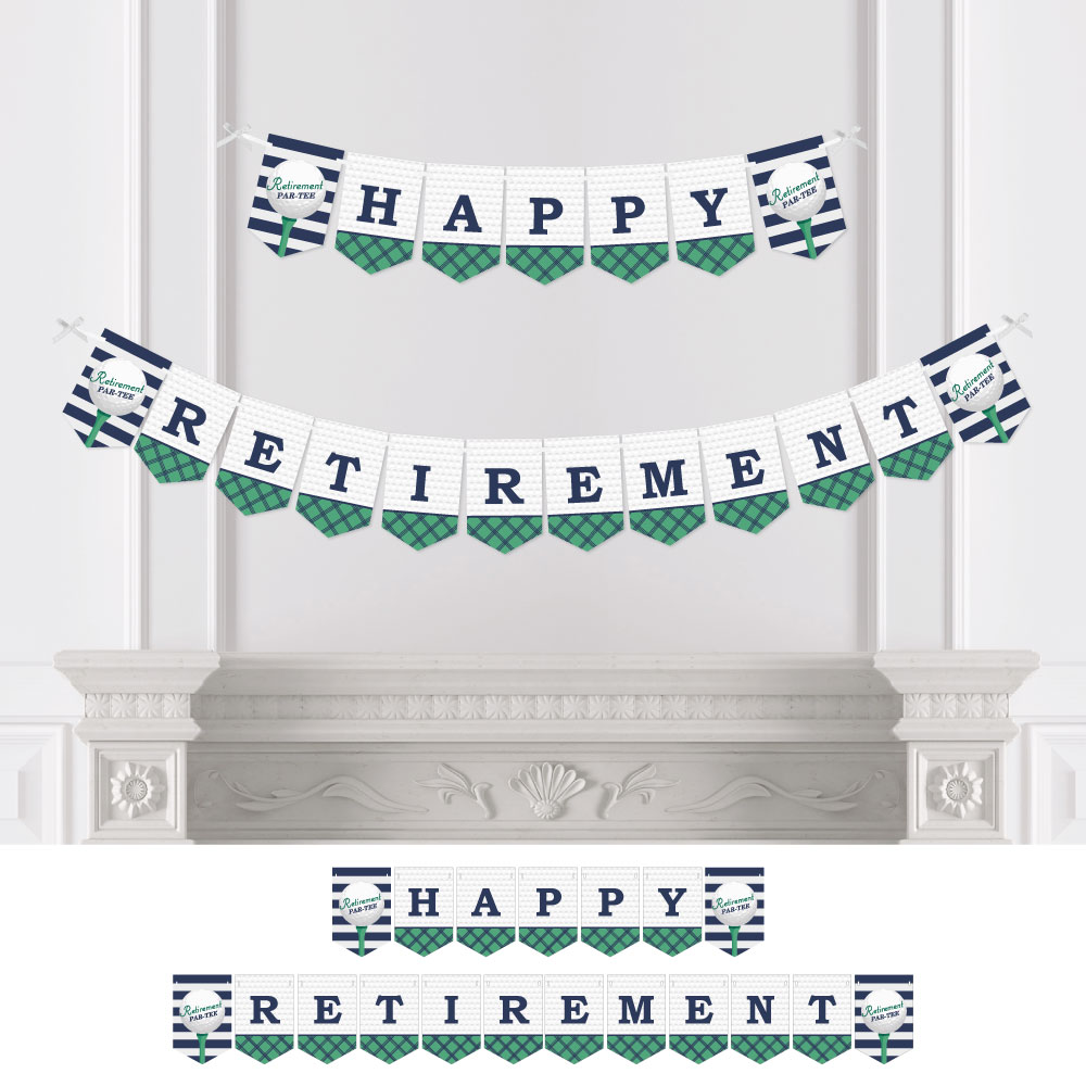 Par-Tee Time - Golf - Retirement Party Bunting Banner - Golf Party Decorations - Happy Retirement