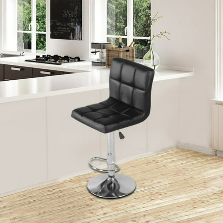 Ergonomic Height Adjustable Backrest Footrest Barstool Chair Kitchen Stool
