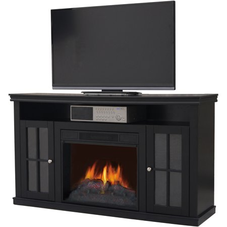 Decor flame media electric fireplace for tvs up to 42 for Decor flame electric fireplace