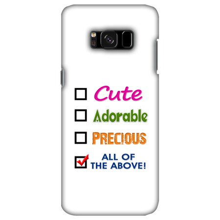 Samsung Galaxy S8 SM-G950U Case, Samsung Galaxy S8 Case - Cute, Hard Plastic Back Cover. Slim Profile Cute Printed Designer Snap on Case with Screen Cleaning Kit