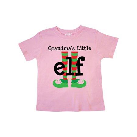 Grandma's Little Elf Christmas Holiday Toddler T-Shirt - Toddler Elf
