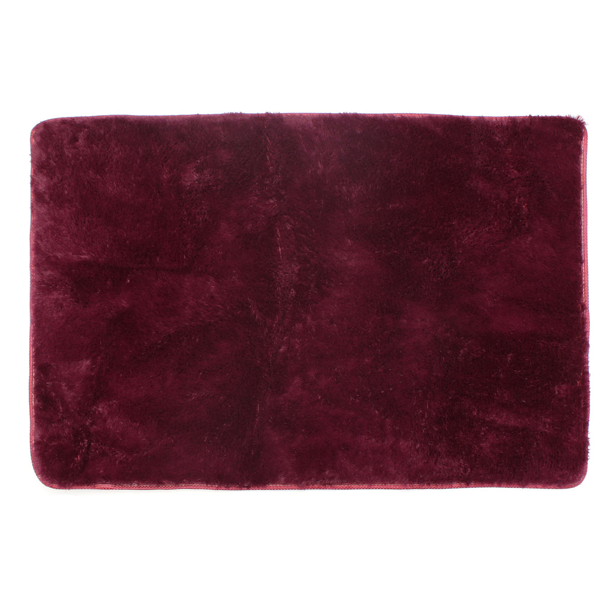 Red Wine 48 X32 Modern Soft Fluffy Floor Rug Anti Skid