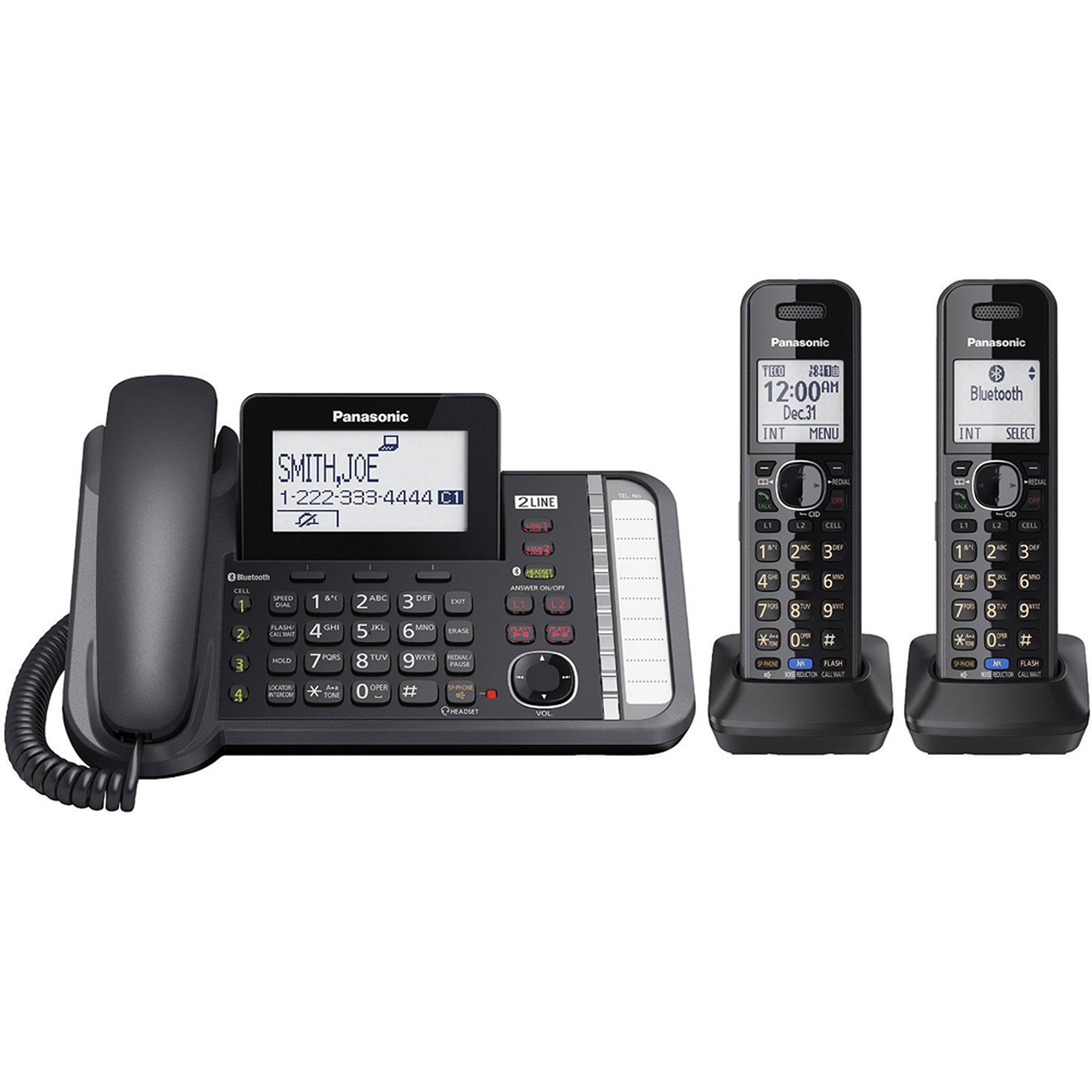 Panasonic Link2Cell KX-TG9582B Duo Cordless Phone by Panasonic Consumer