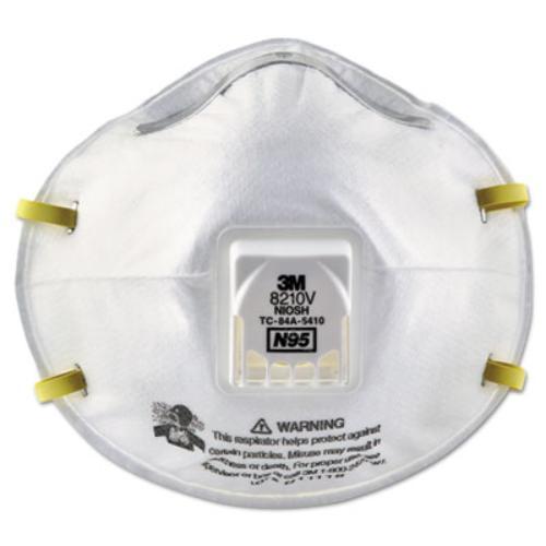 3m 8210V Particulate Respirator 8210v, N95, Cool Flow Valve, 80 carton by 3M