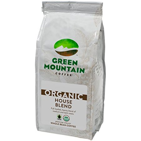 Green Mountain Coffee Roasters Organic House Blend Ground Coffee, 10 oz