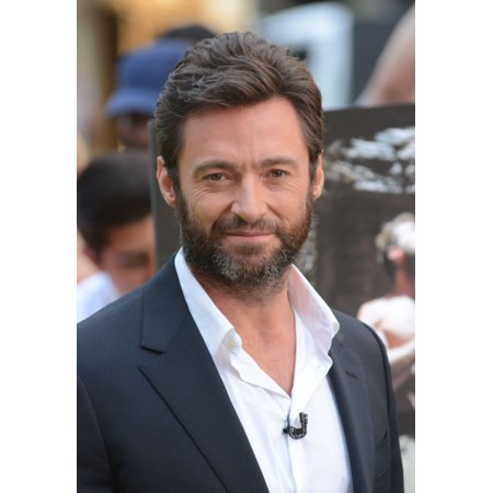 Hugh Jackman At Talk Show Appearance For Celebrity Candids At Good Morning America (Gma) - Wed Stretched Canvas - (8 x 10)