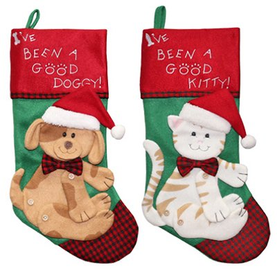 Dyno Seasonal Solutions 1196758CC Pet Christmas Stocking, Felt, Assorted, 19-In. - Quantity 1](Pet Christmas Stockings)