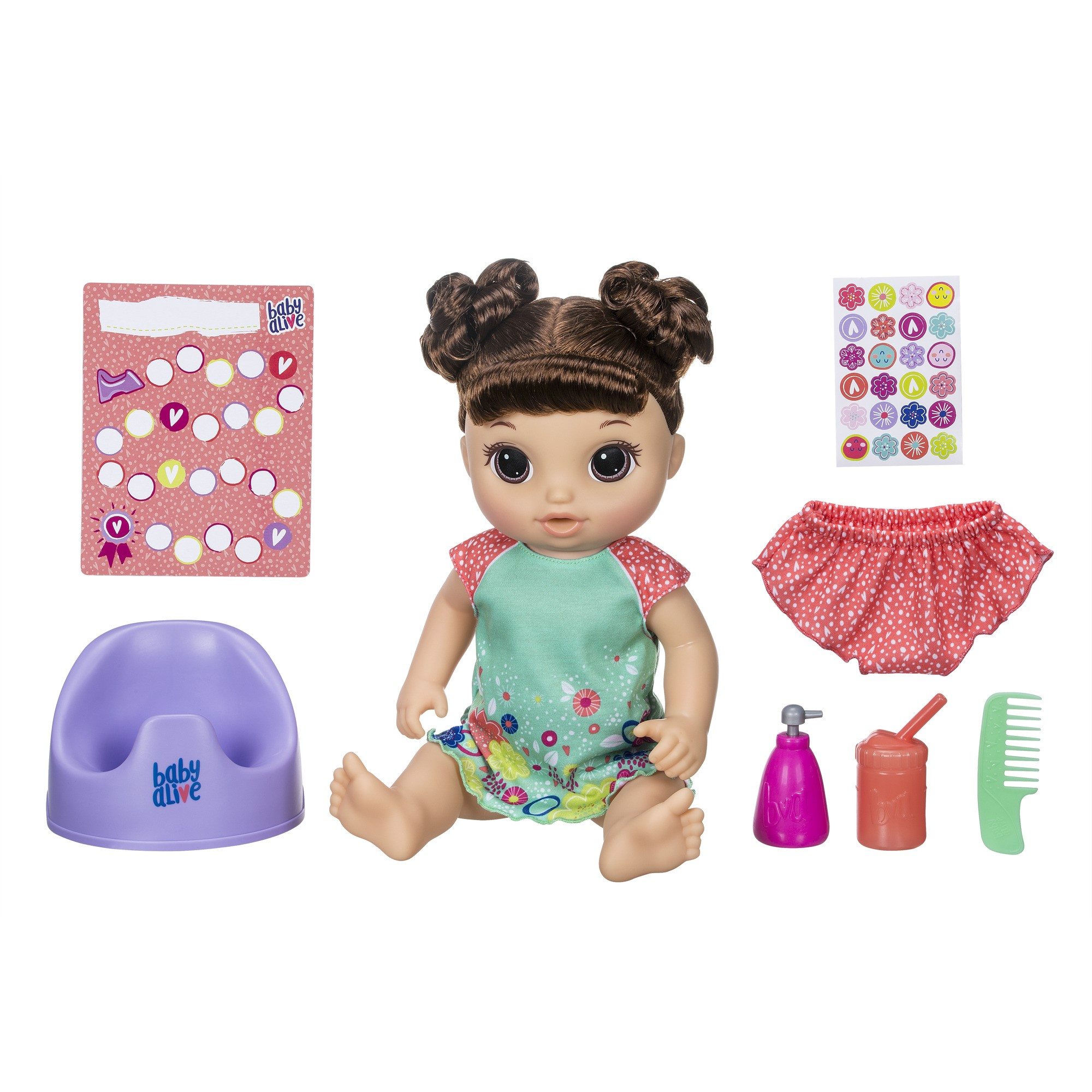 Baby alive potty dance baby:talking baby doll with brown hair