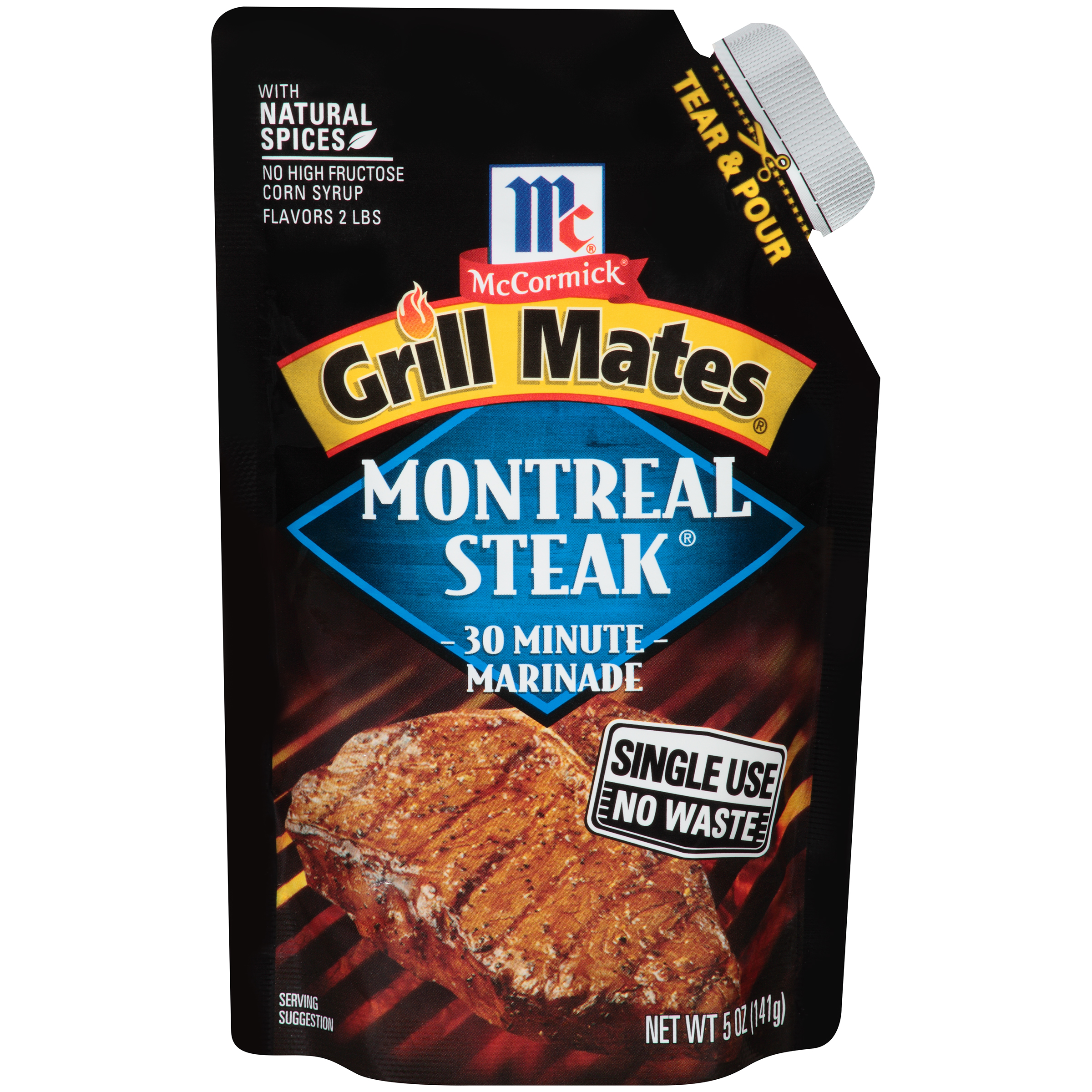 McCormick® Grill Mates® Montreal Steak Single Use Marinade, 5 oz