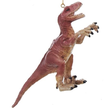 "5.5"" Red and Tan Realistic Velociraptor Dinosaur Christmas ..."