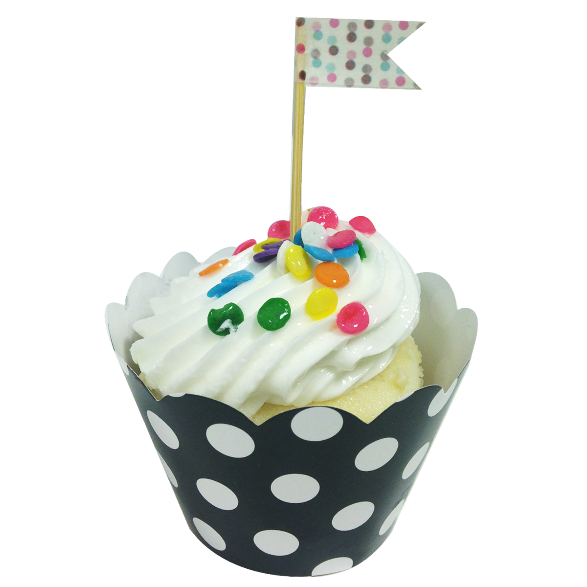 Wrapables® Standard Size Polka Dots Cupcake Wrappers (Set of 20), Blue