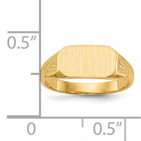14k Yellow Gold Signet Band Ring Size 3.00 Baby Fine Jewelry Gifts For Women For Her - image 1 de 9