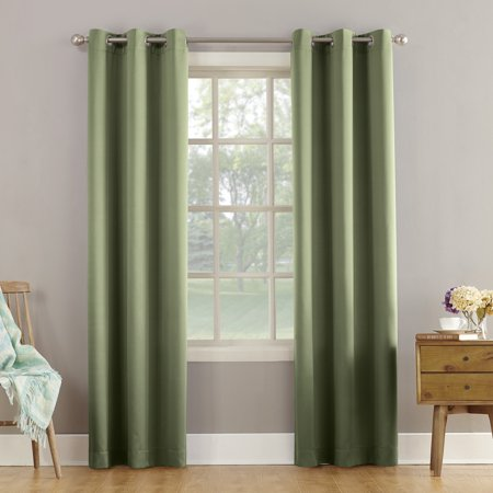 Sun Zero Arya Room Darkening Grommet Curtain Panel